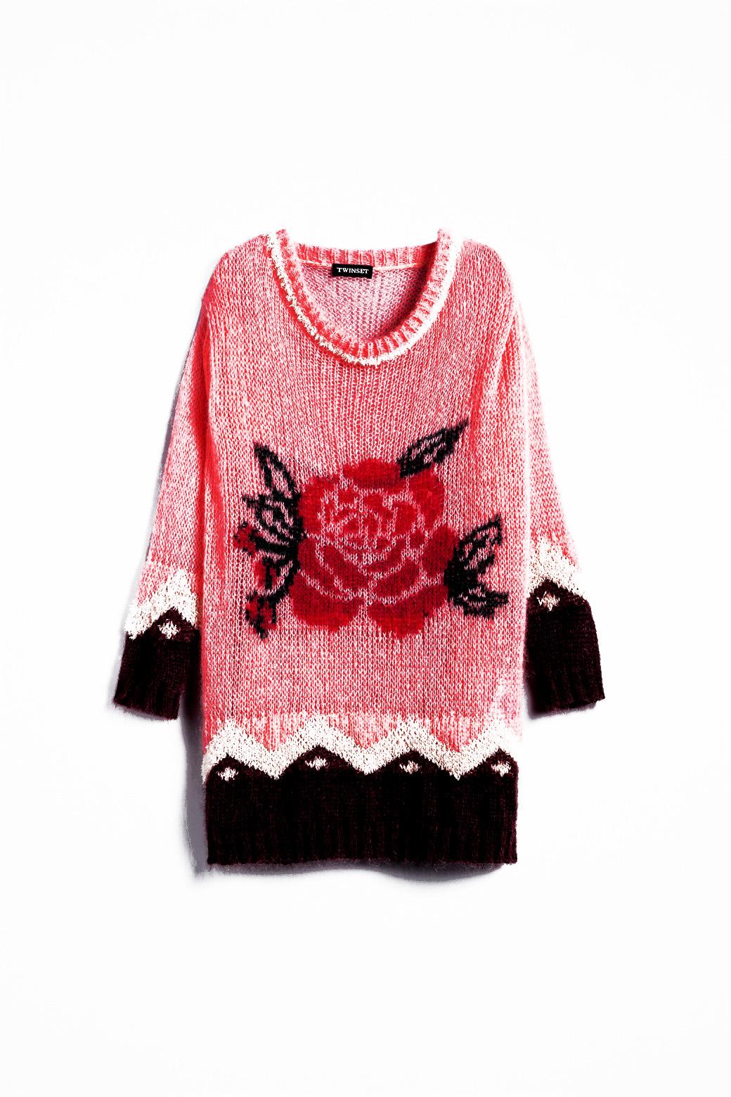predĺžený mohérový pulover
