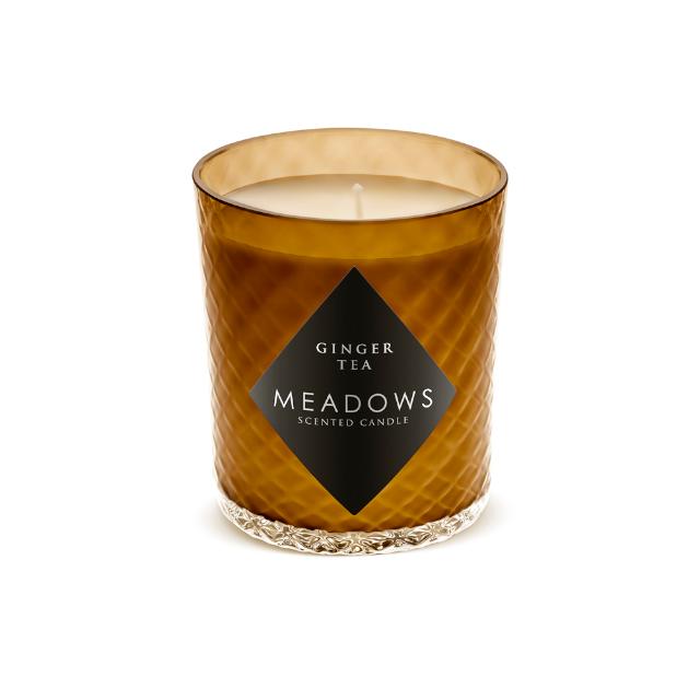 Vonná sviečka Meadows Ginger Tea s vôňou zázvorového čaju a citrónovej trávy