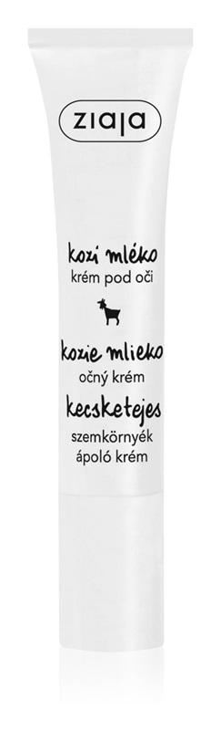 očný krém s obsahom kozieho mlieka