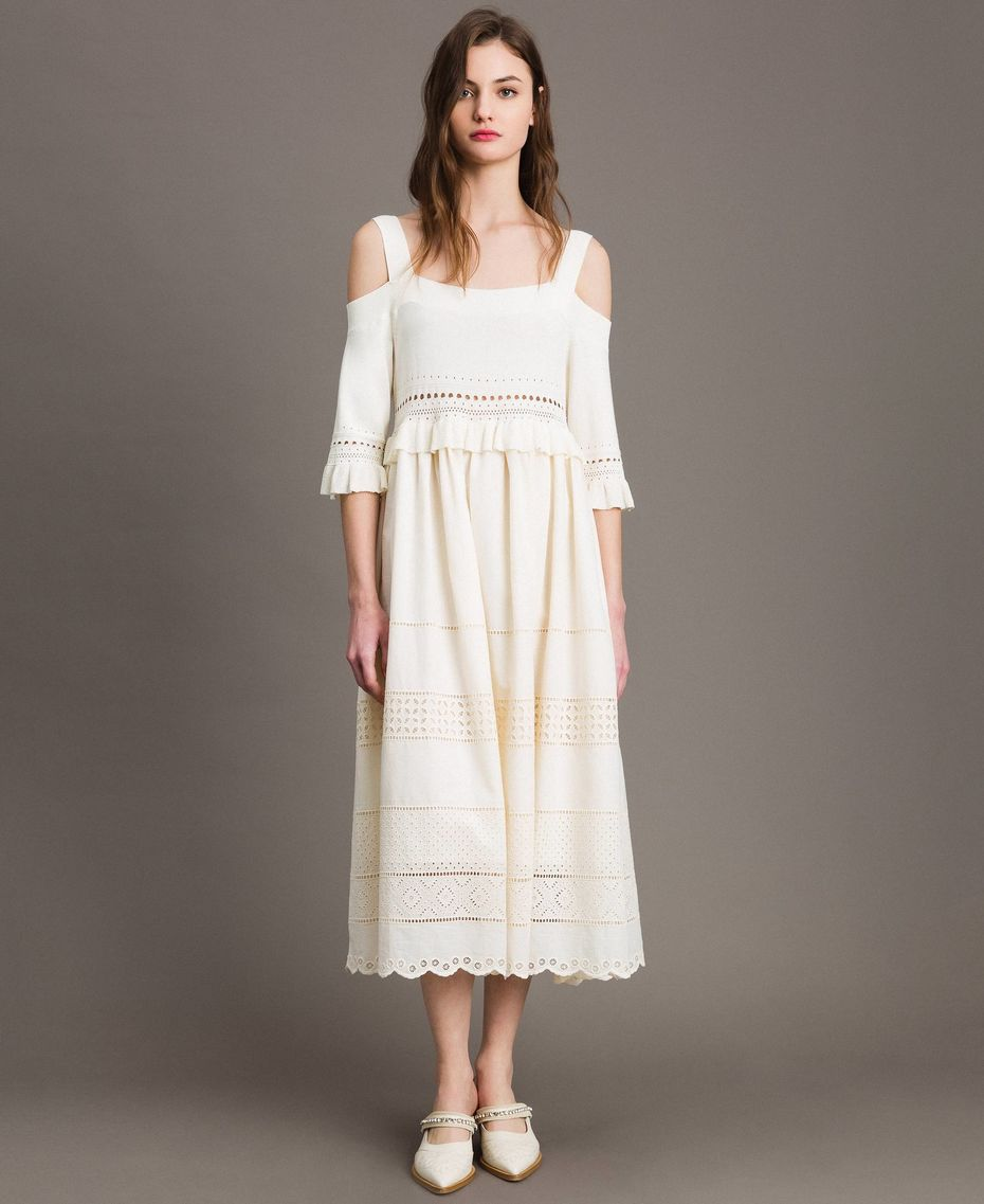 Twinset, anglaise knit dress