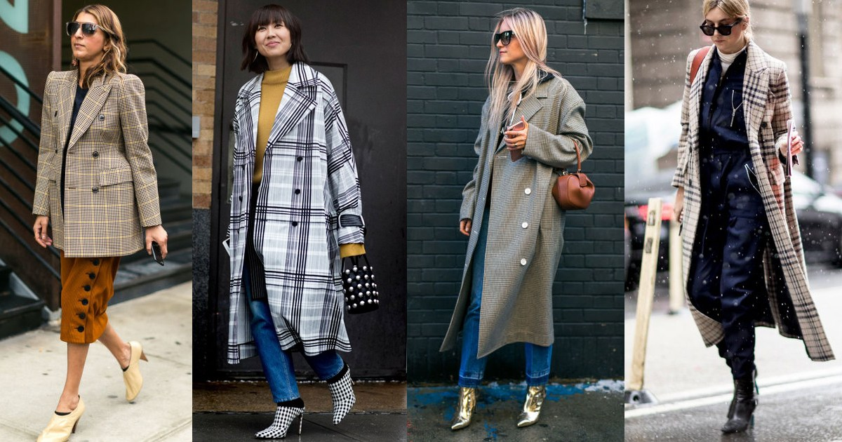 nyfw-2017-best-street-style-outfits-fashion-checkered-trench-midi-tweed-coat-trend
