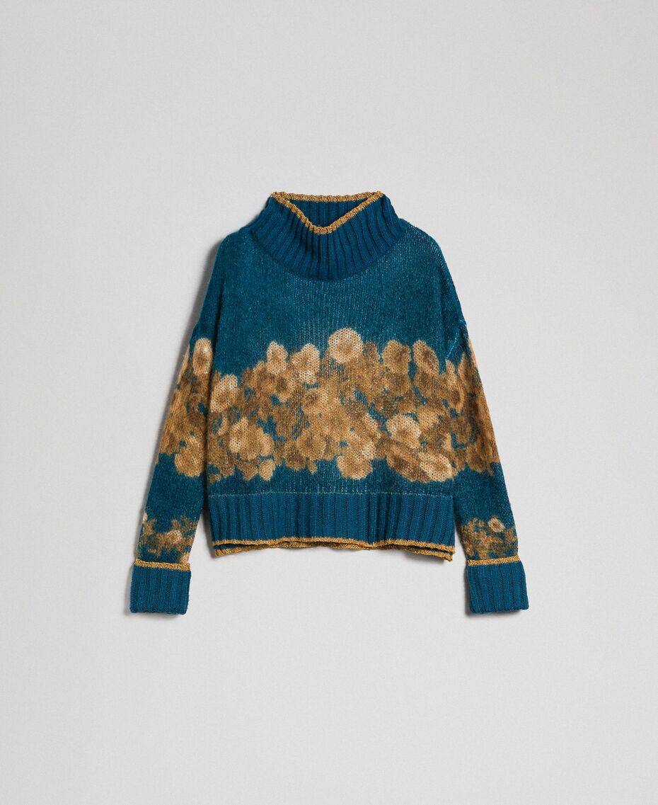 Twinset, Printed mohair jumper Add to Wishlist