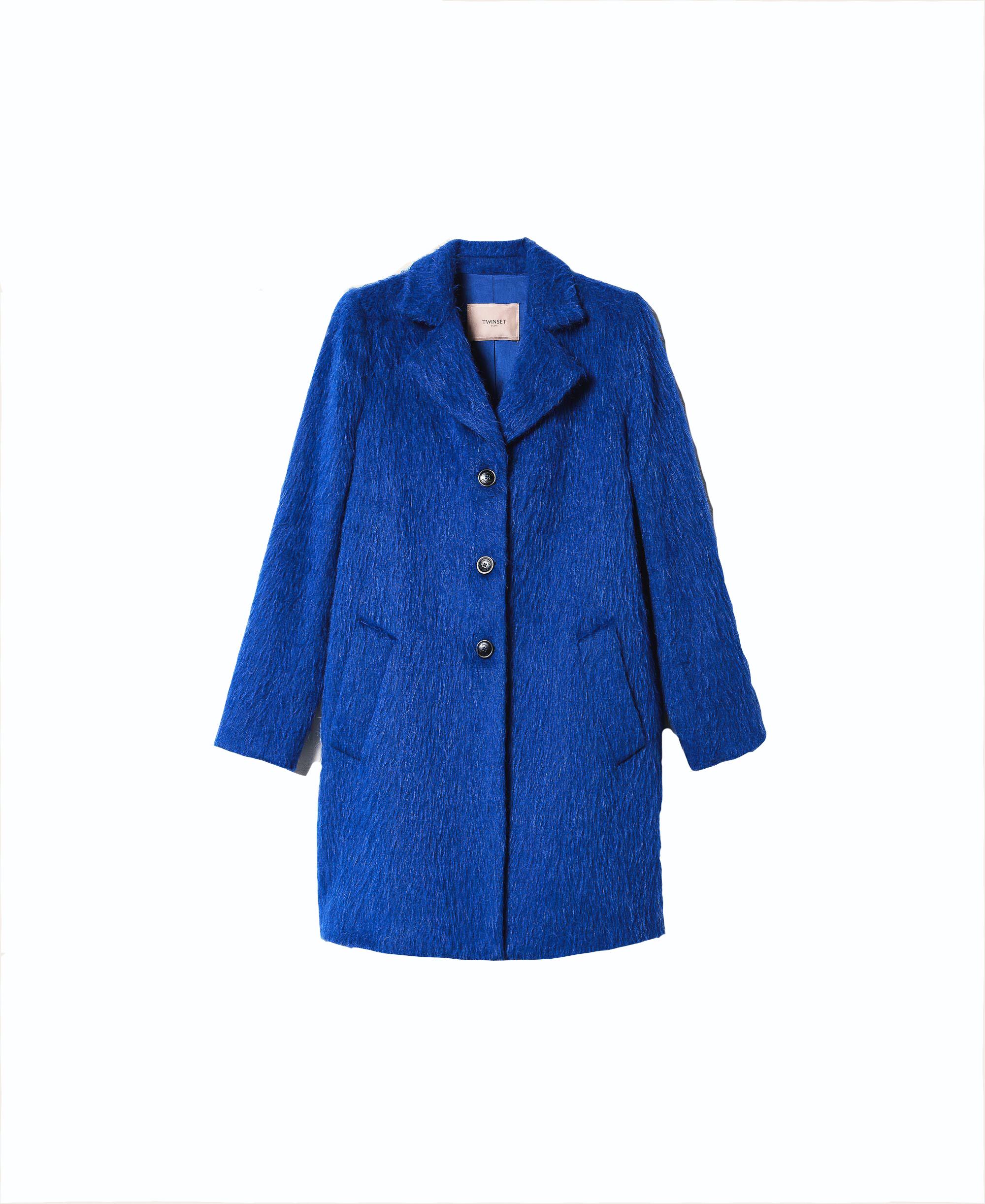 Twinset, teddy coat, blue